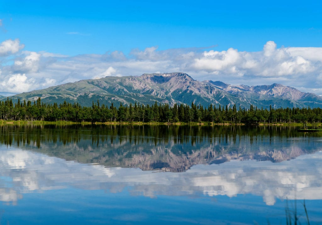 Alaska Water Mountains Wood