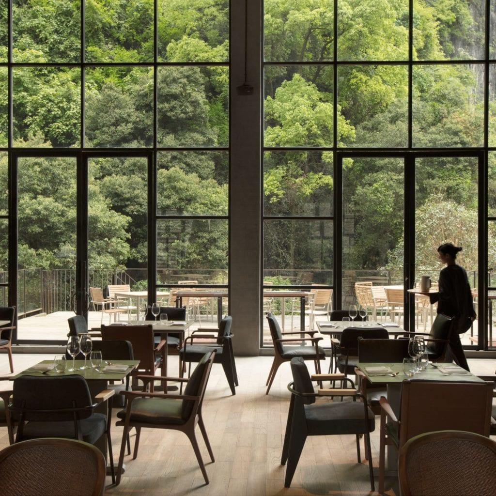 Alila Yangshuo dining room interior