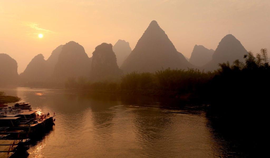 sunrise landscape Alila Yangshuo