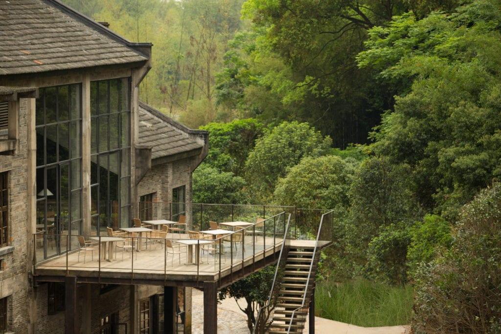 exterior terrace Alila Yangshuo