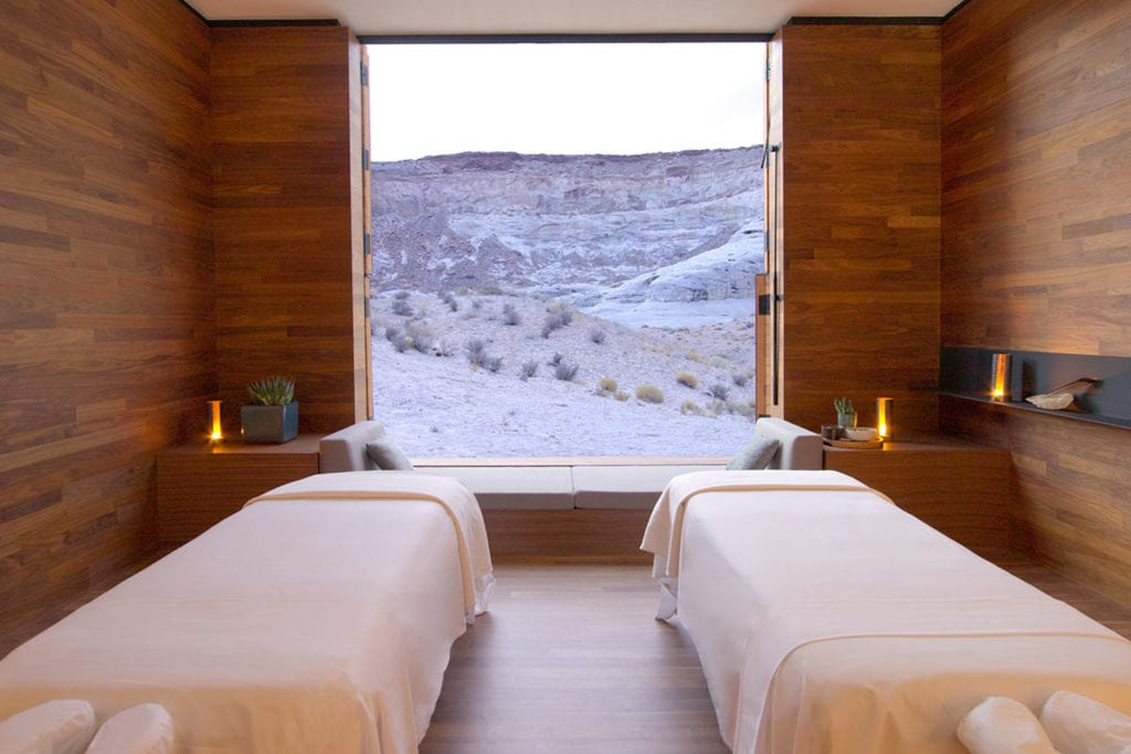 Spa Treatment Room Interior Desert View Amangiri USA