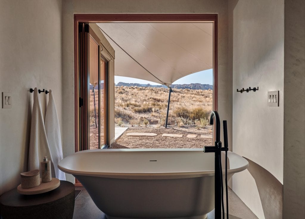 Bathroom Interior with Desert View Amangiri USA