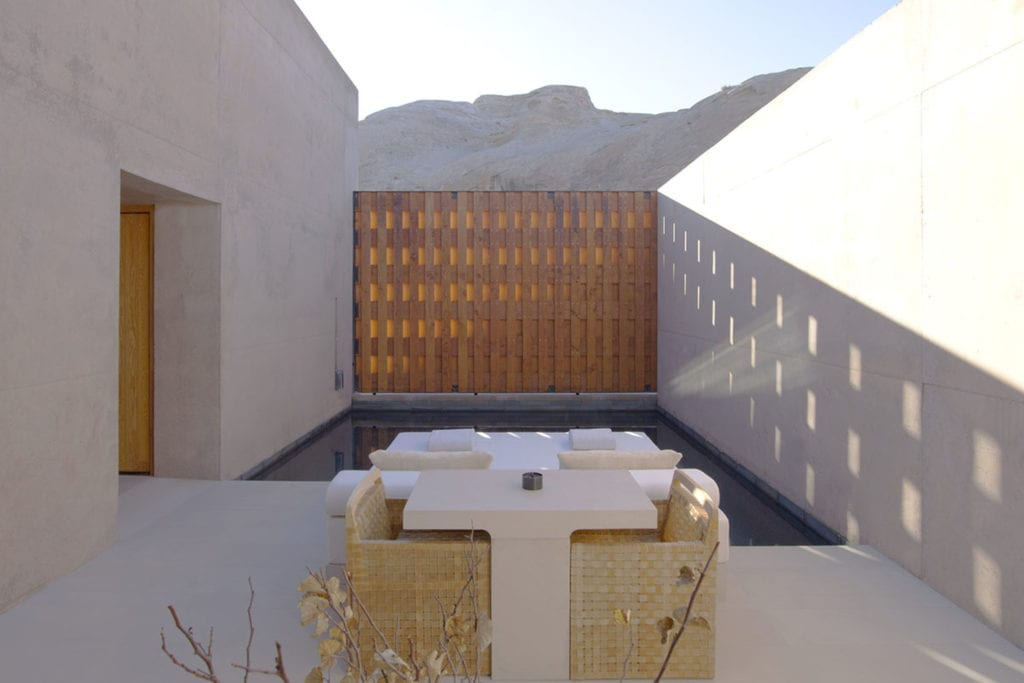 Pool Suite Dining Terrace at Amangiri USA