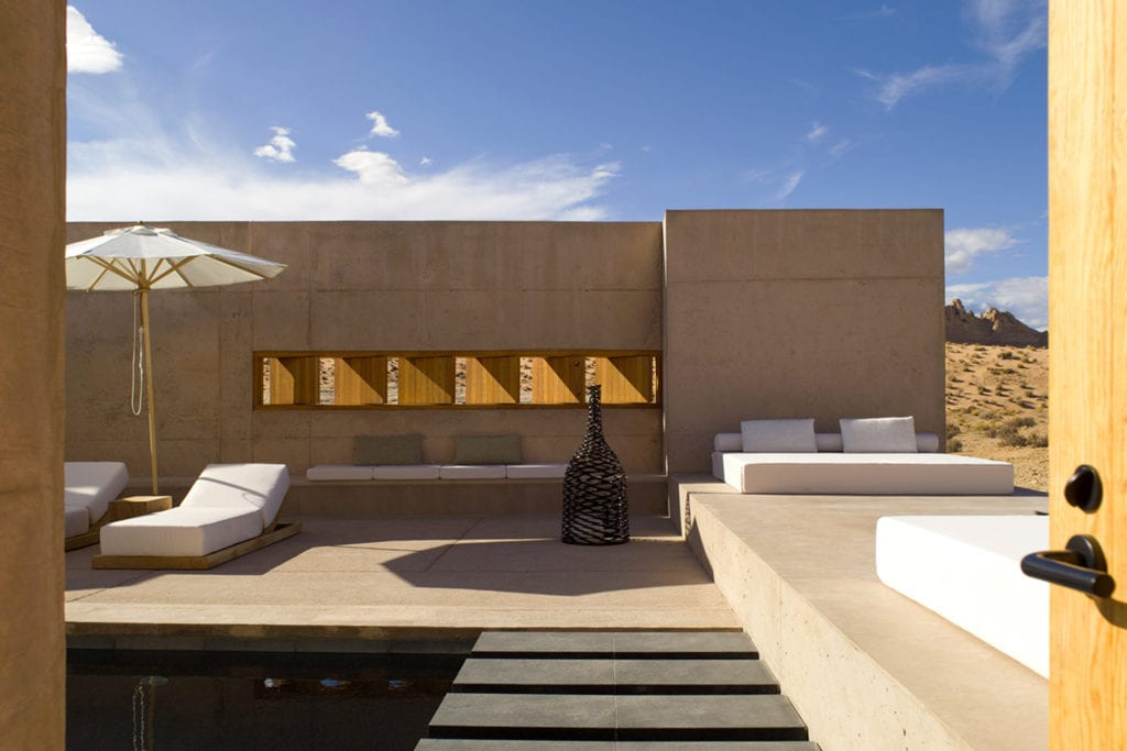 Amagiri Suite Outdoor Area and Loungers Amangiri USA