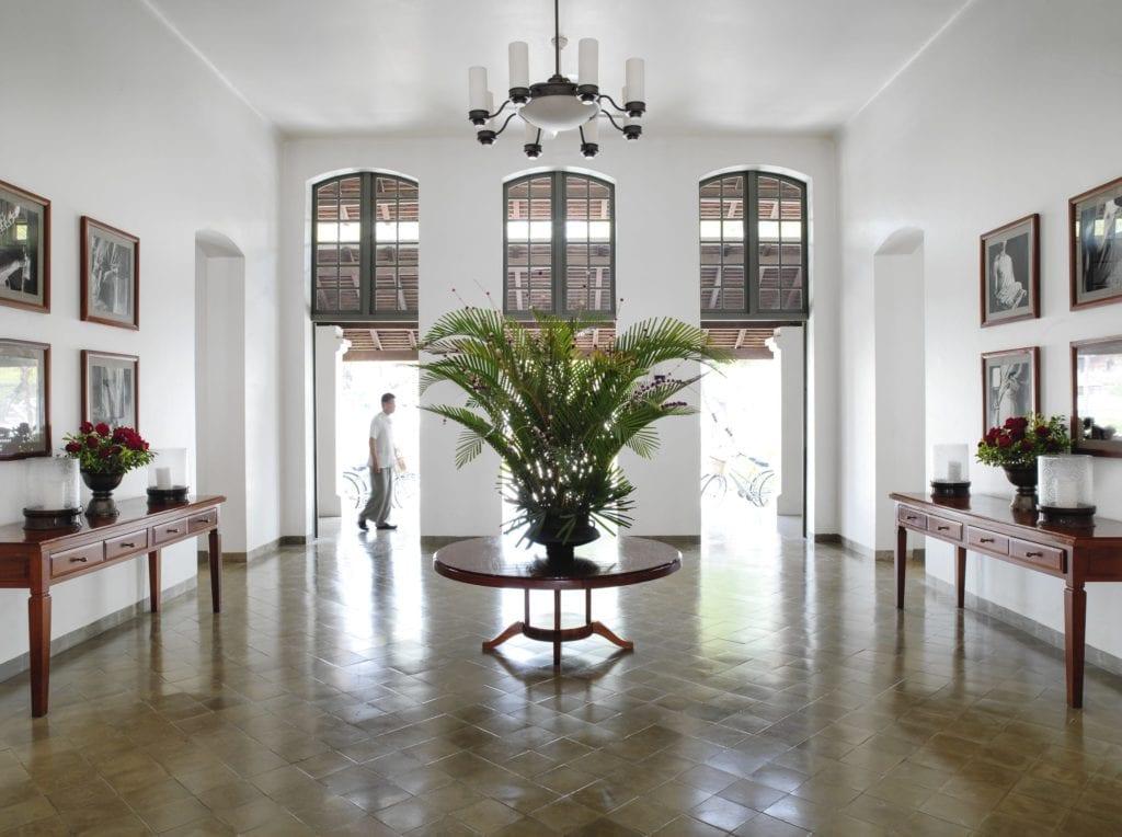 entrance hallway to amantaka laos
