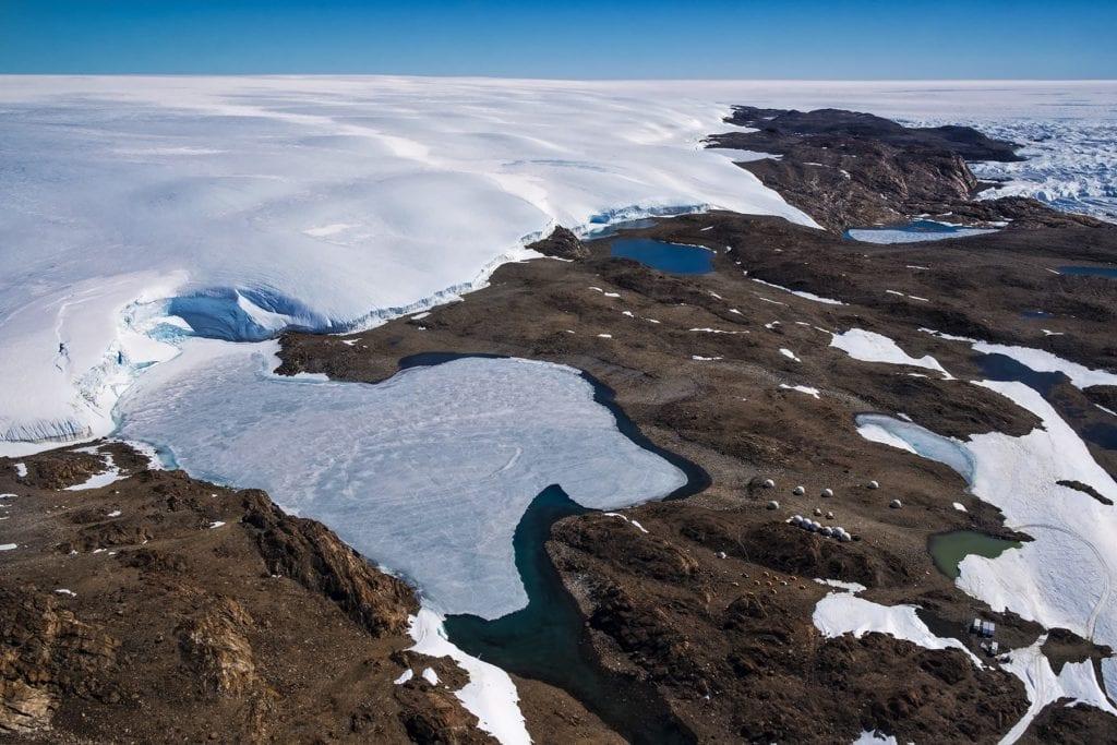 Antarctica Ice Landscape Aerial