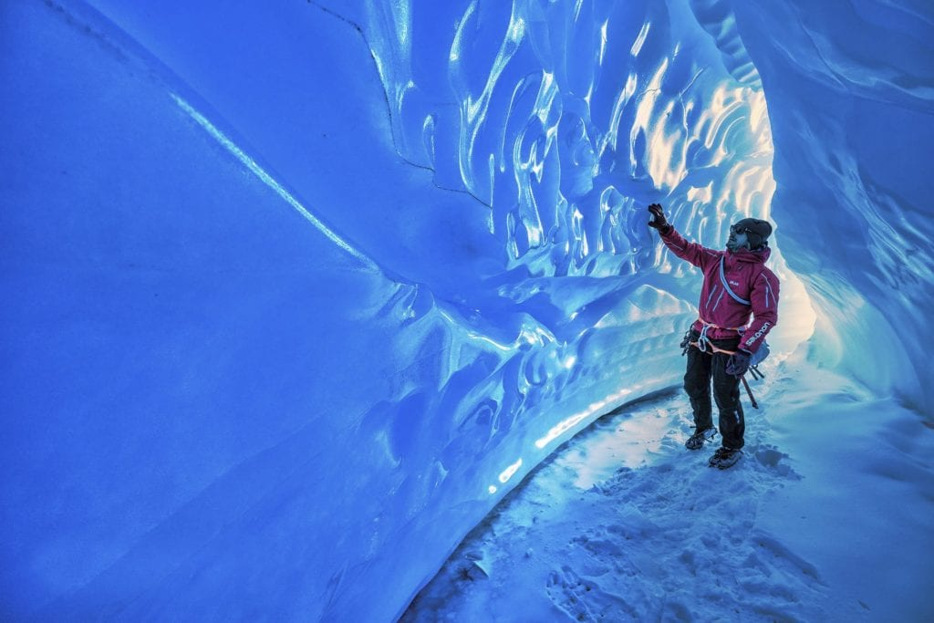 Antarctica Ice Tunnel