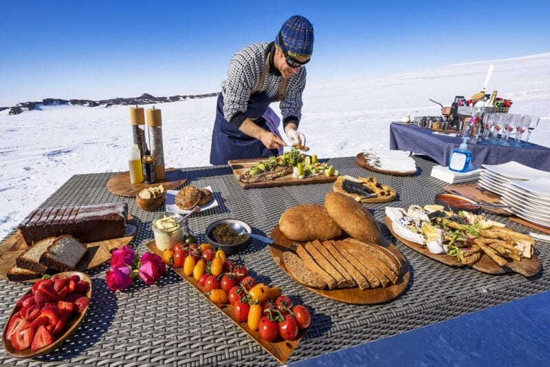Antarctica outdoor meal