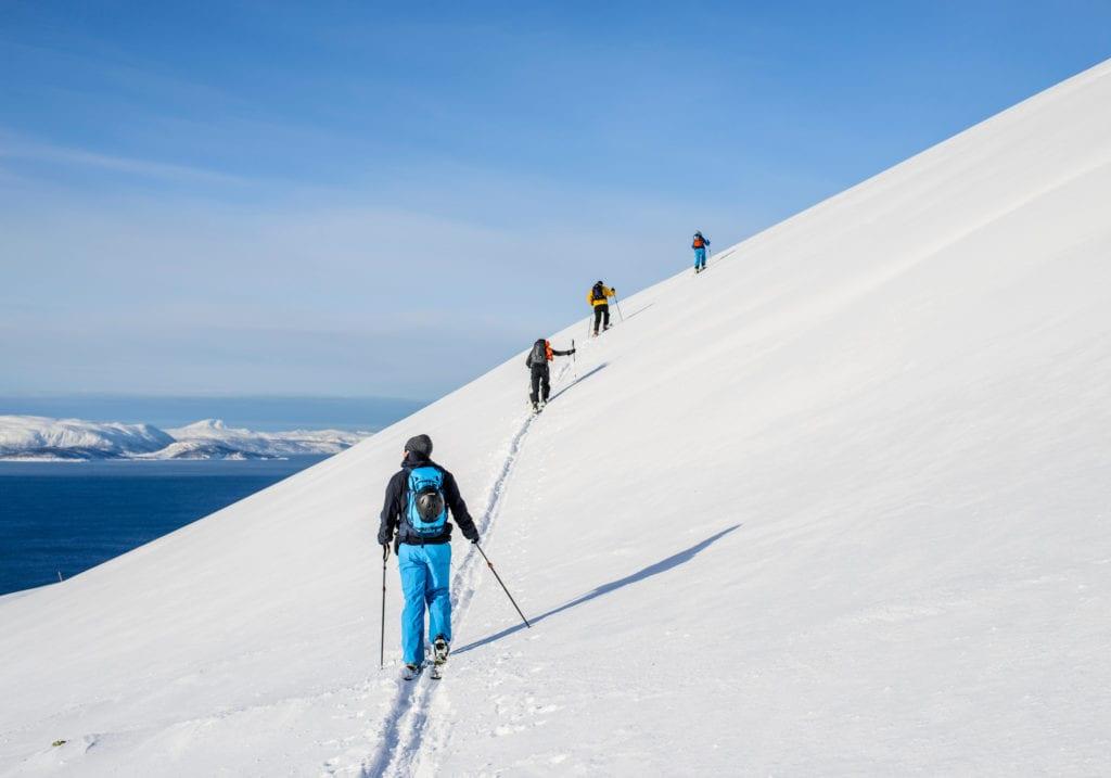 antarctica ski group mountain