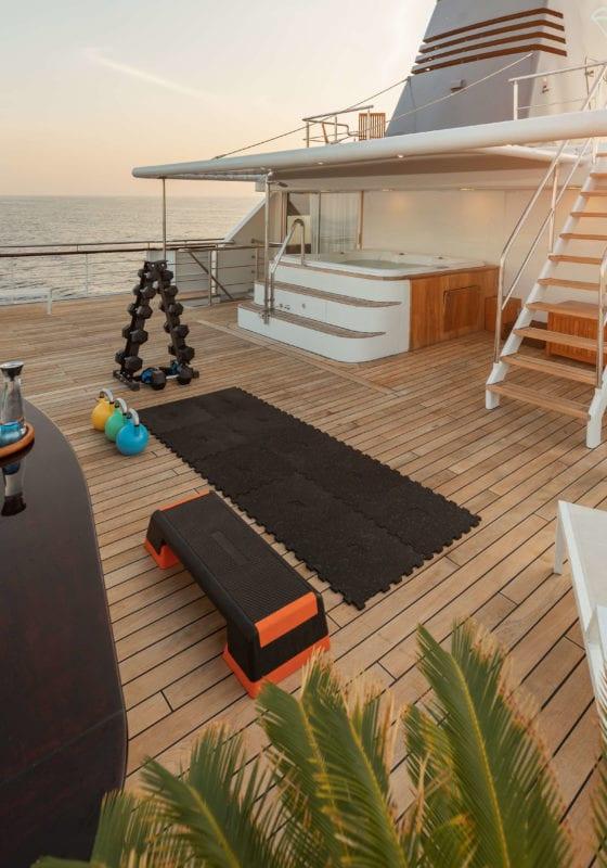 aqua blu yacht exterior gym