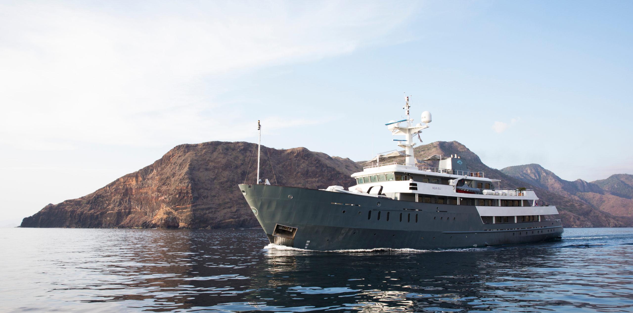 Aqua Blue yacht exterior hero