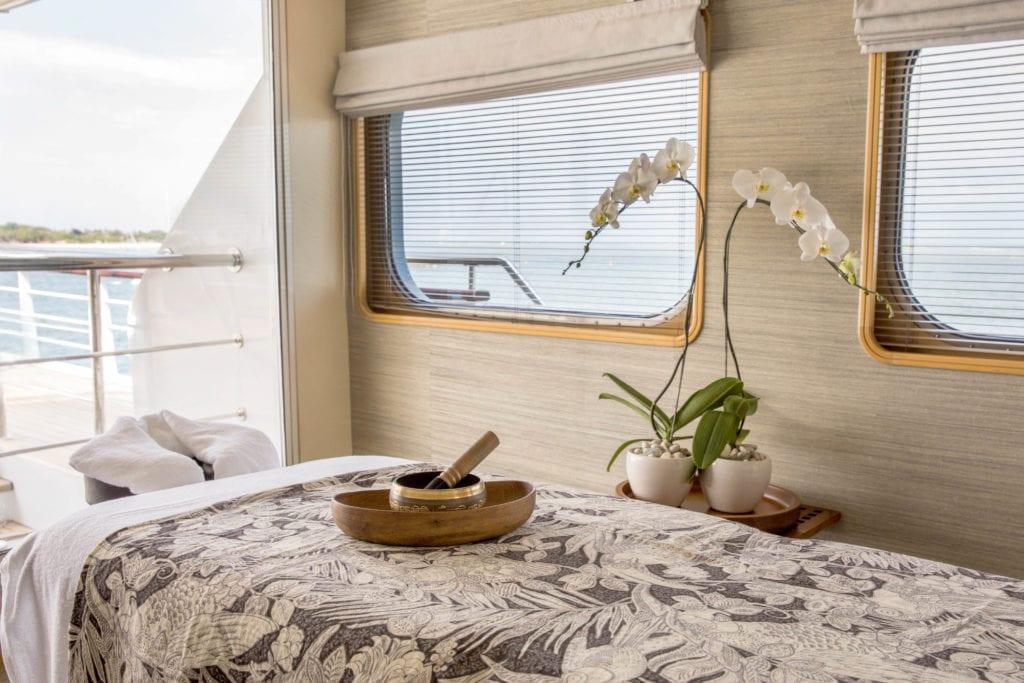 aqua blu yacht massage room