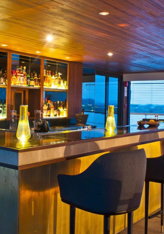 aqua mekong yacht interior bar