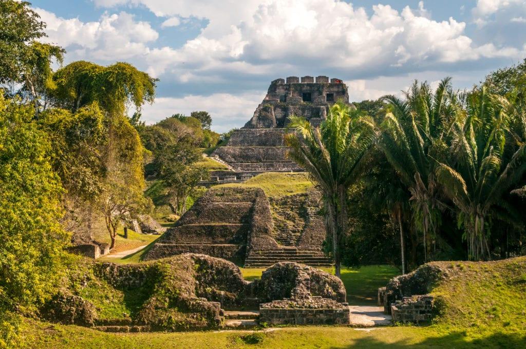 mayan ruins archeological area belize
