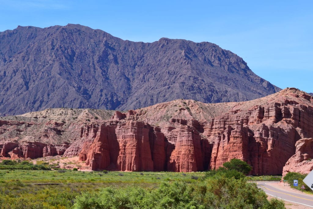 Red rock mountains Argentina