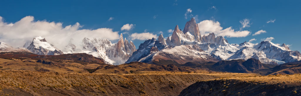 Snowy mountains in Argentina