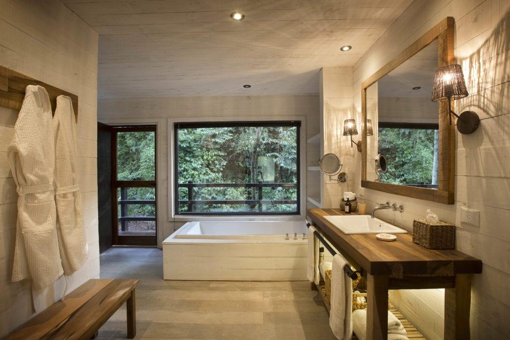 Bathroom interior at Awasi Iguazu