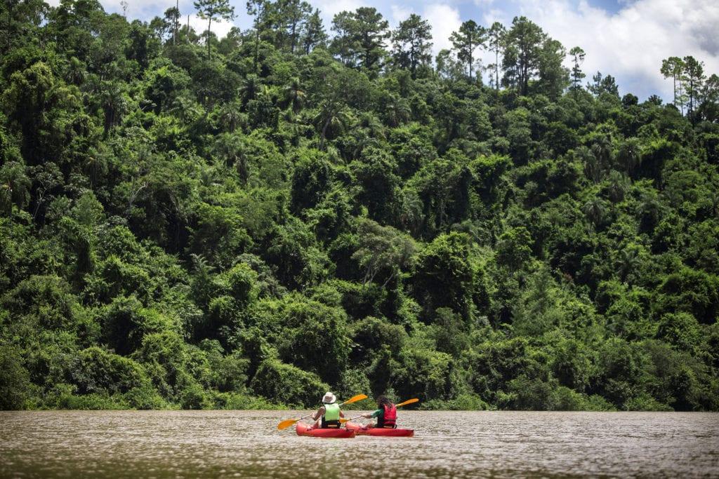 Kayaking from Awasi Iguaza in Argentina
