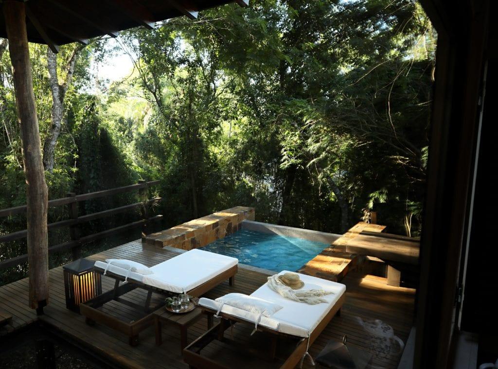 Plunge pool decking at Awasi Iguazu Argentina