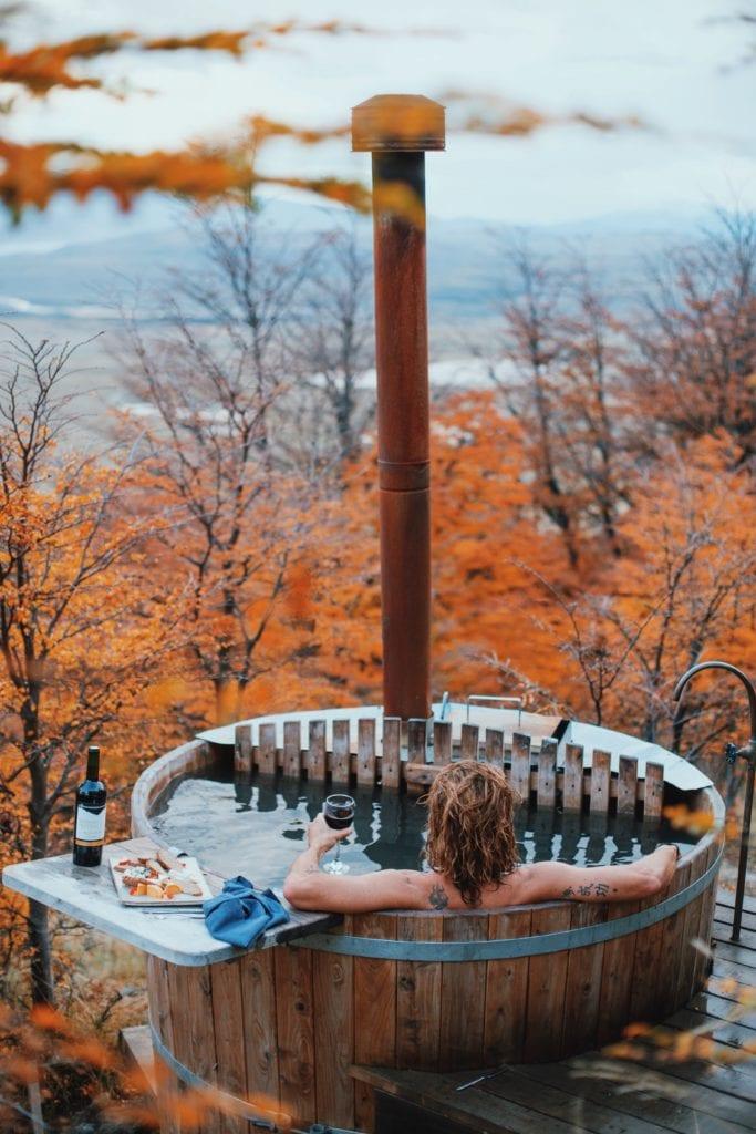 outdoor hot tub awasi patagonia