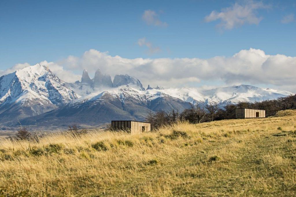 snowy mountains behind awasi patagonia