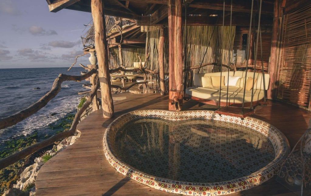 azulik villa private veranda