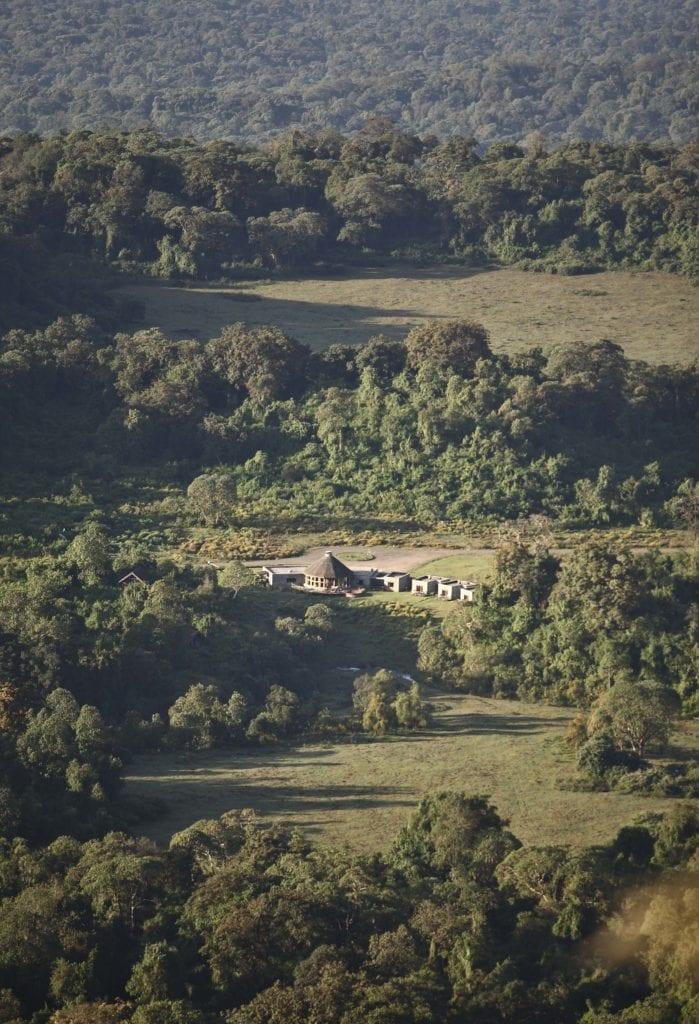 Bale Mountain Lodge aerial shot