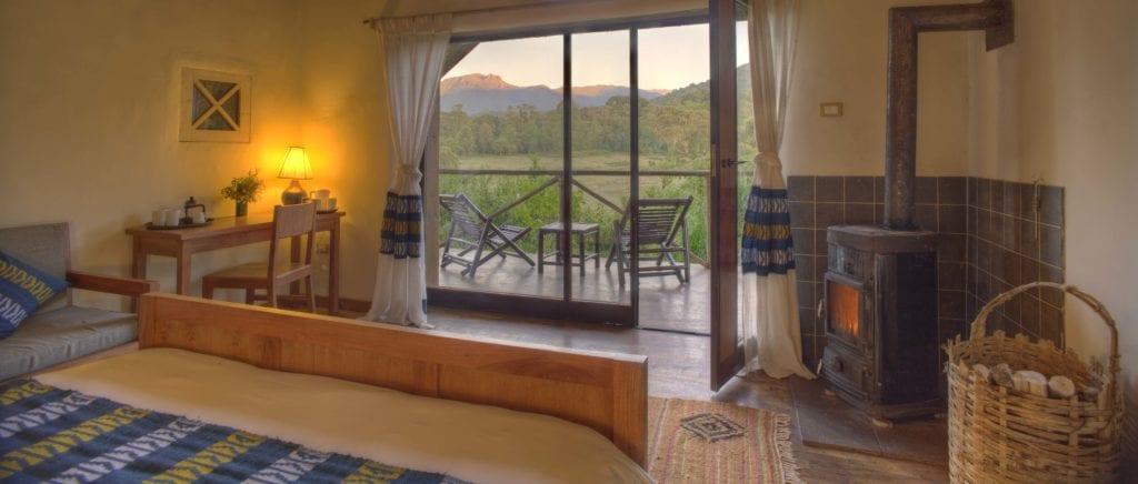 Bale Mountain Lodge bedroom view