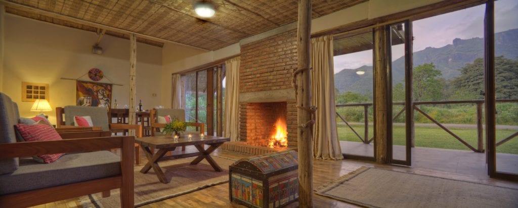 Bale Mountain Lodge lounge interior