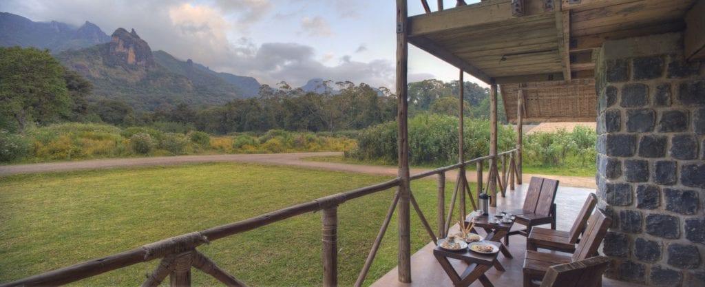 Bale Mountain Lodge veranda views