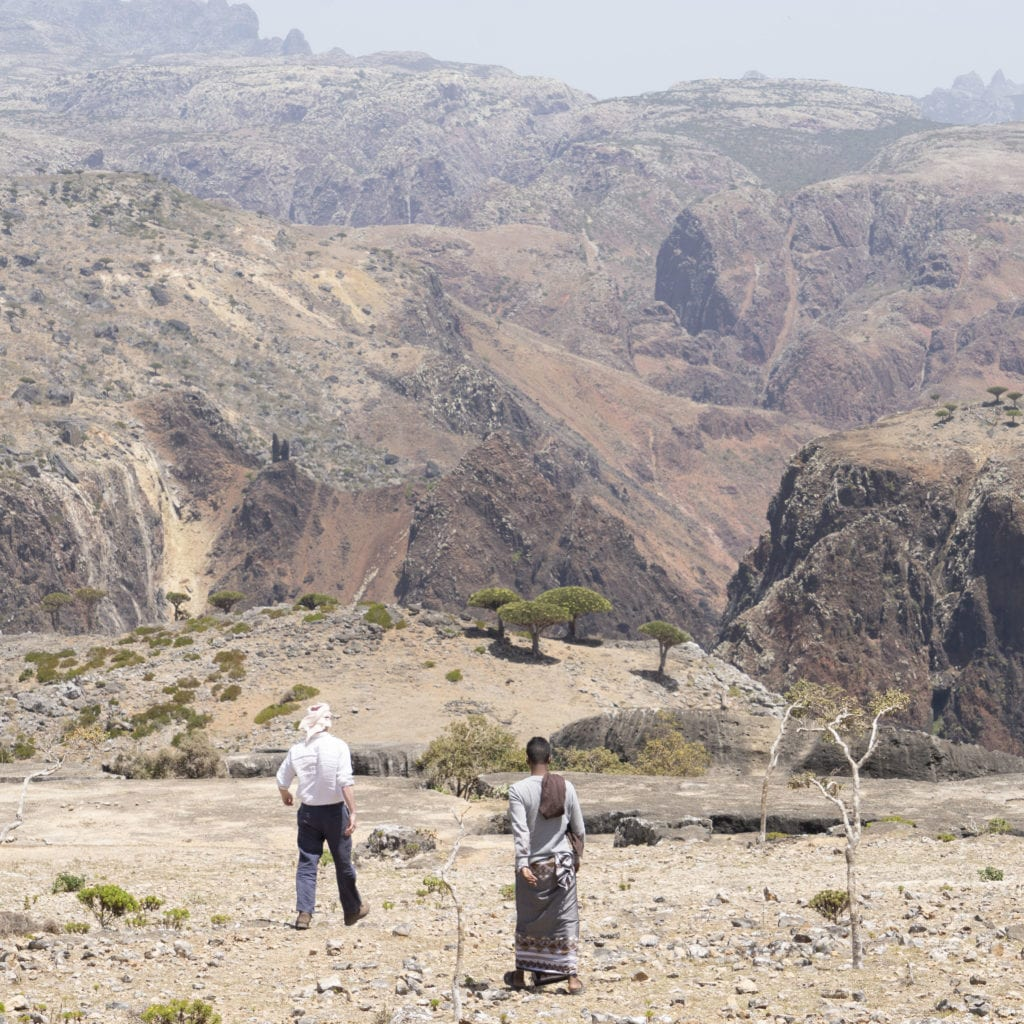Socotra's barren and rocky terrain