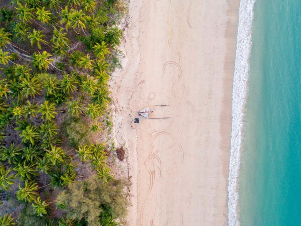 Beach Aerial Myanmar