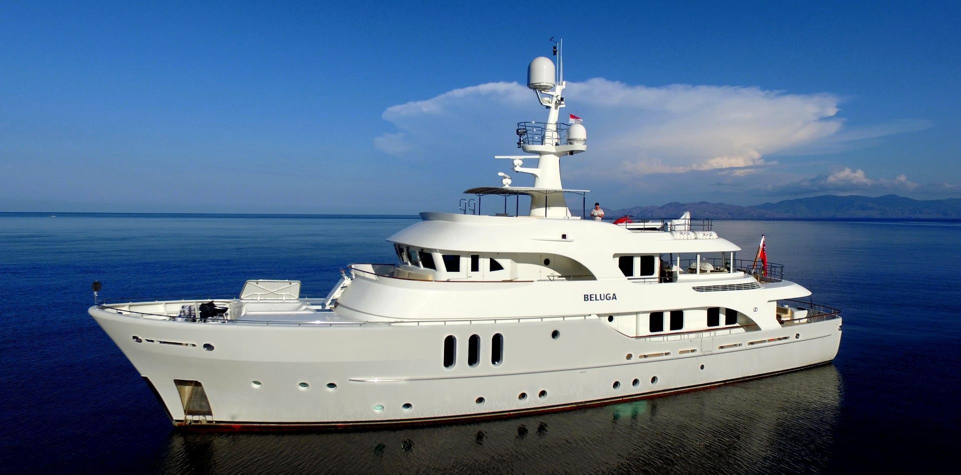 beluga motor yacht exterior hero