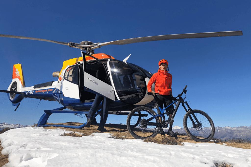 Bhutan Heli Biking