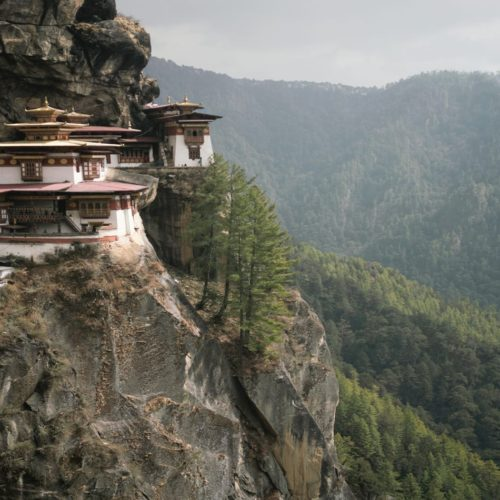 Bhutan Tigers Nest Monastry Cliff