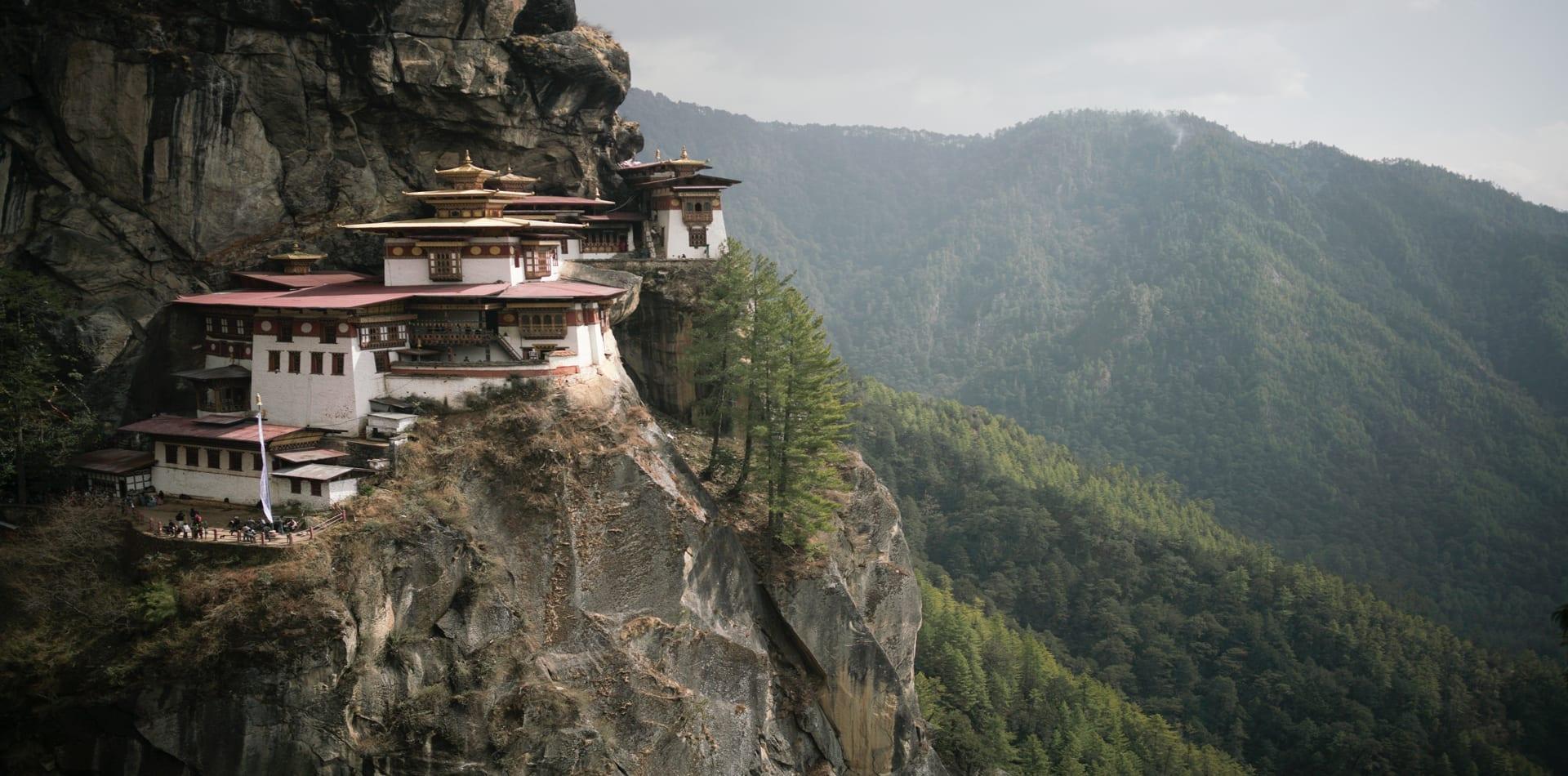 Bhutan Tigers Nest Monastry Cliff