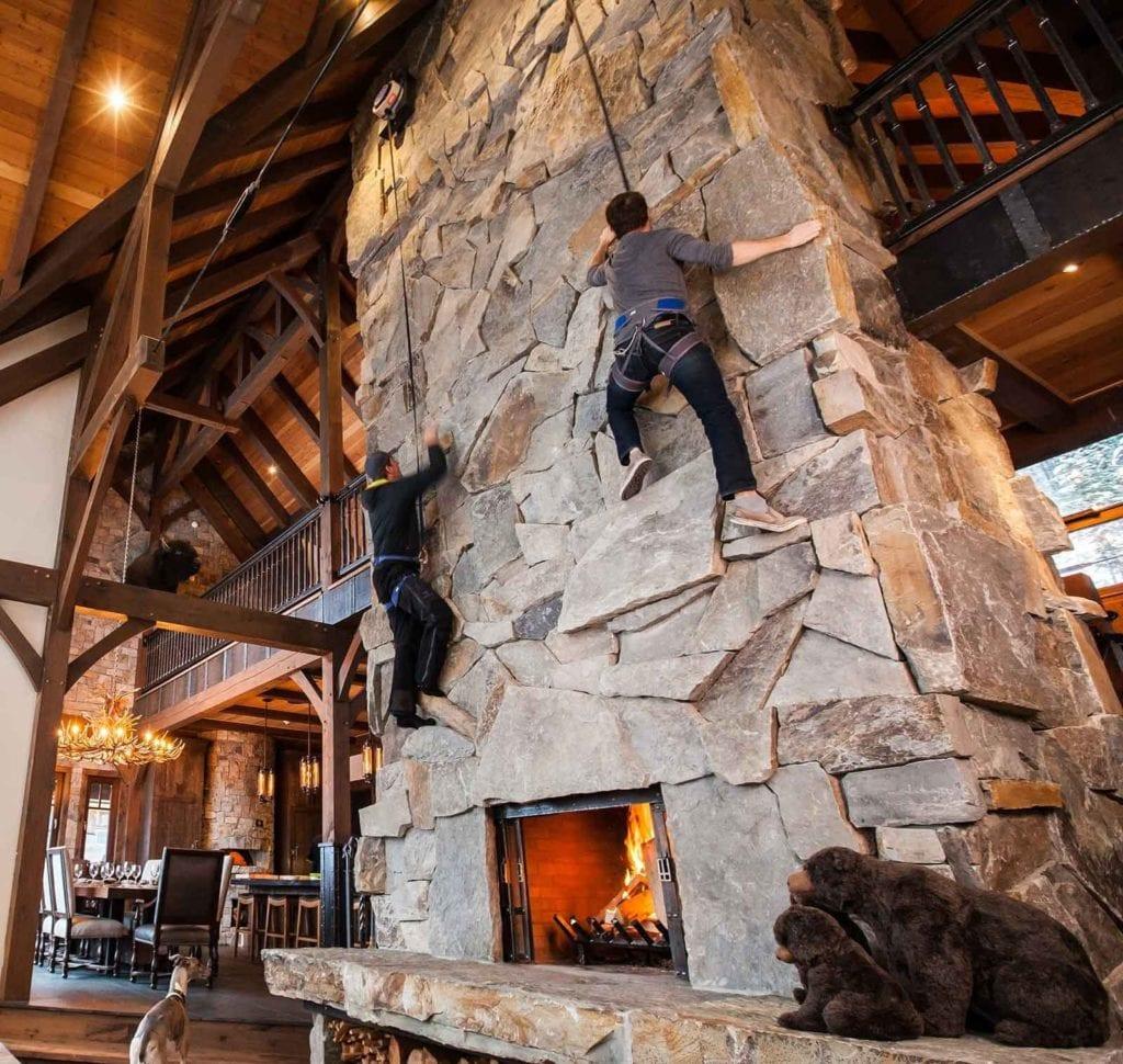 bison lodge indoor rock climbing