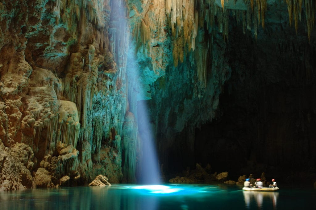 underground lake excursion Brazil