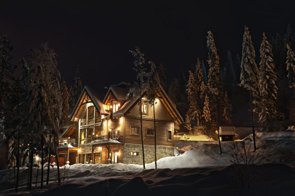 Exterior of Bison Lodge in British Colombia