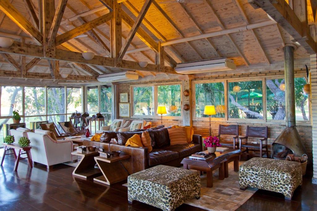 Lounge interior at Caiman Ecological Refuge Brazil
