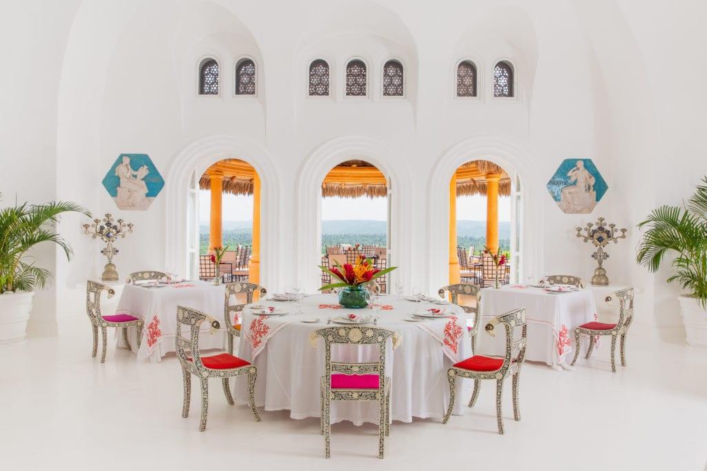 interior dining area casa cuixmala