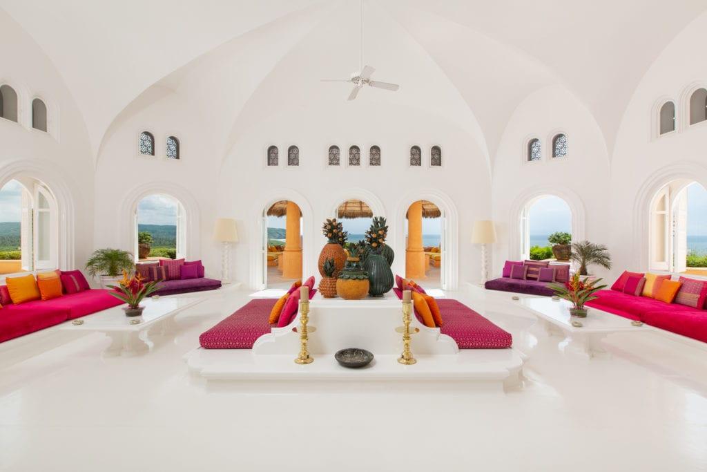 interior lounge casa cuixmala
