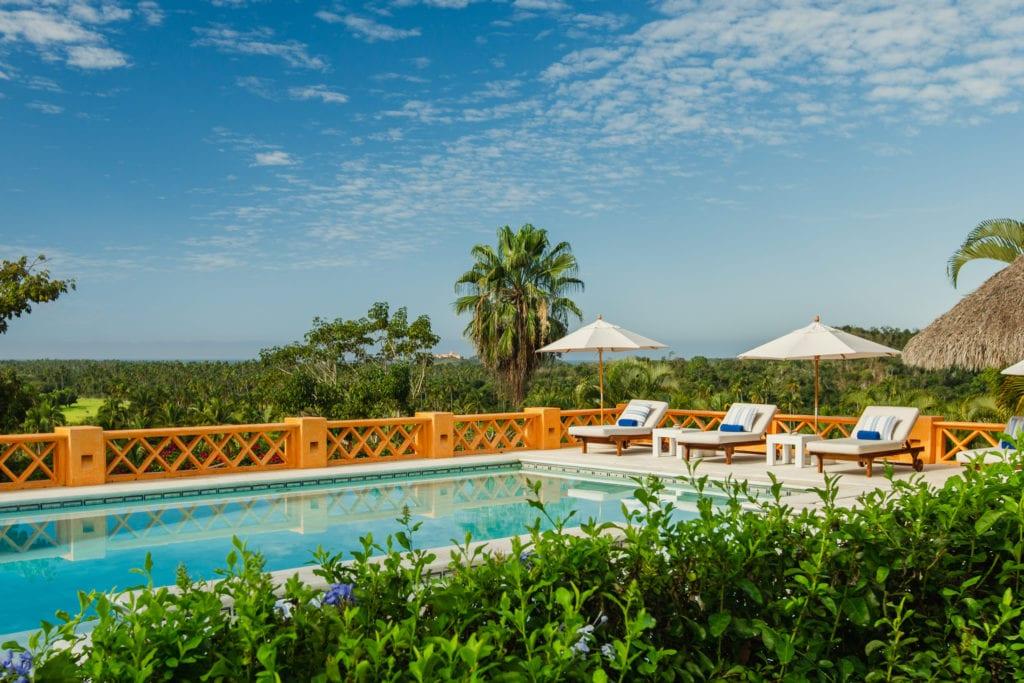 swimming pool at casa cuixmala