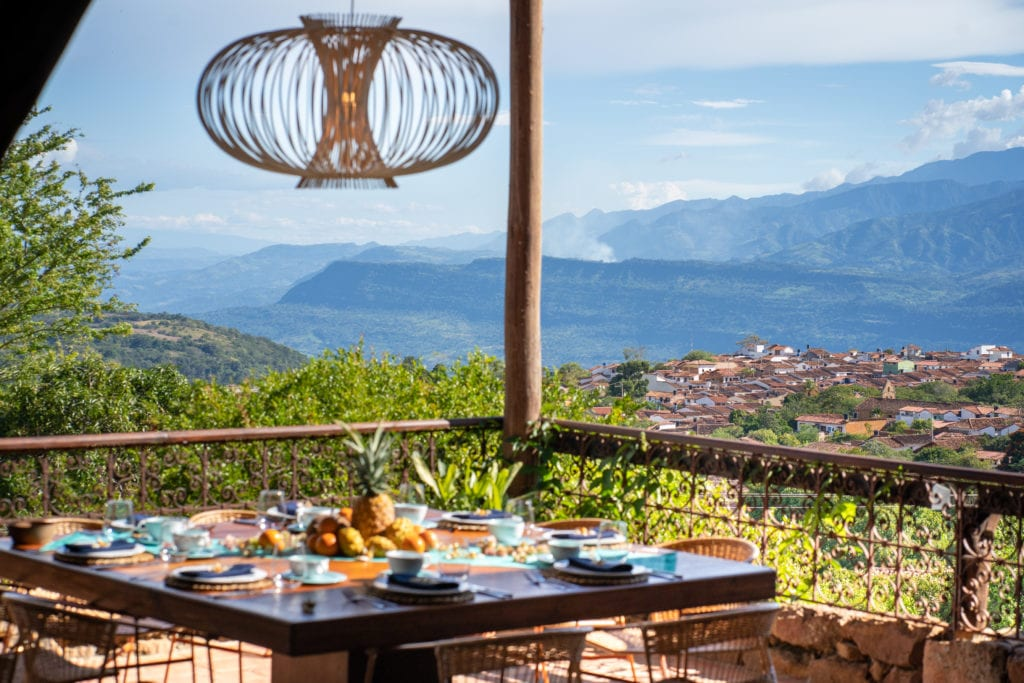 Lunch view from terrace at Casa del Presidente