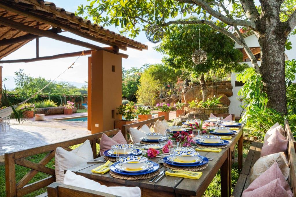 Casa del Presidente outdoor dinner table