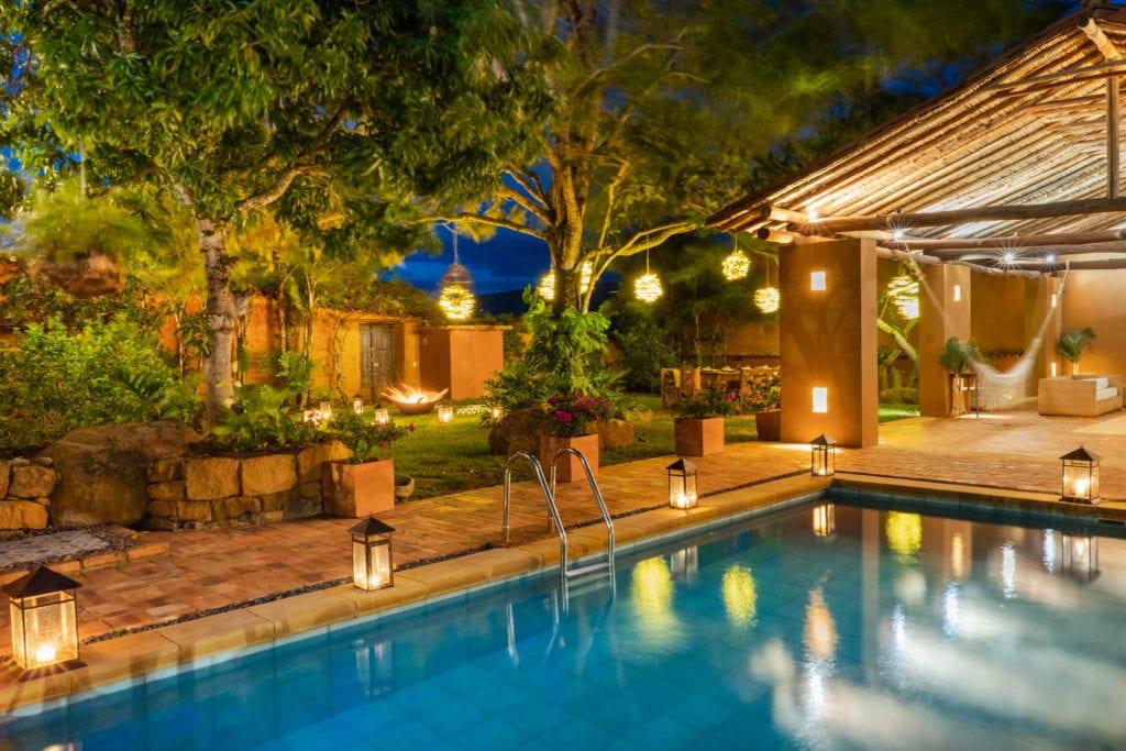 evening poolside at Casa del Presidente
