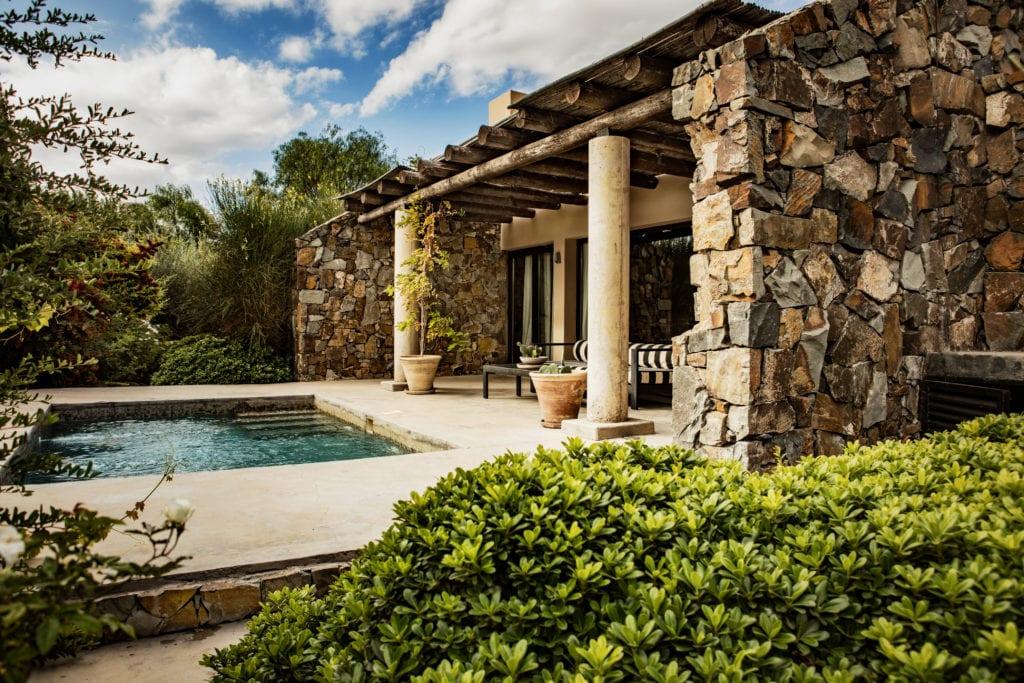 Plunge pool at Cavas Wine Lodge