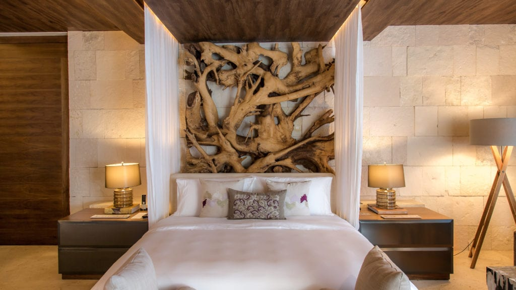 bedroom interior hacienda chable yucatan
