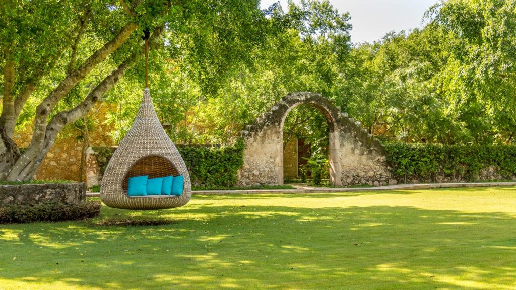 hacienda chable yucatan garden hanging chair