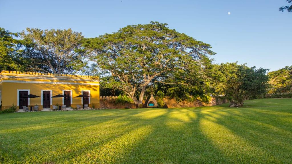 garden area hacienda chable yucatan